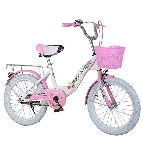 """JCOCO Kinder Falten Fahrrad-einzelne Geschwindigkeit 18/20/22 Zoll 8-9-10-11-12-14 Jahre alte Jungen und Mädchen-Schüler-Fahrrad (größe : 22\"""")"""