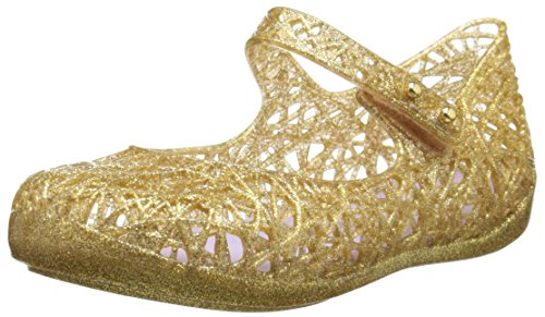 Mini Melissa CA Ballet Mary Jane (Toddler), Gold Glitter, 5 M US