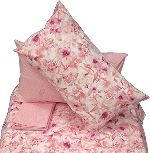 Zucchi lenzuolo infusion rosa v.1 matrimoniale (sopra lenzuolo 240x280+sotto lenzuolo 175x200 +4 federe 50*80)