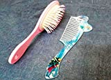 #7: Art box 2 different HAIR COMB/BRUSH SET of FROJAEN for Doll Lover Girls . ( Best birthday and kanjak gift) 2 counts