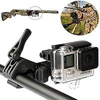 Sportsman Moun fijación Clip abrazadera para GoPro estabilizador kit para pistola Rifle barril/Ferrocarril lazo/caña de pesca Clip de fijación para GoPro Hero3+ y Hero4