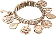 Anne Klein Womens Quartz Watch, Analog and Stainless Steel- 108096RMCH