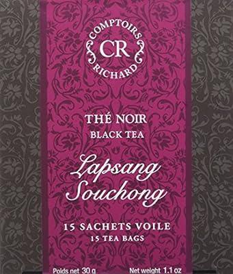 Comptoirs Richard Thé Noir Lapsang Souchong 15 Sachets 30 g - Lot de 2
