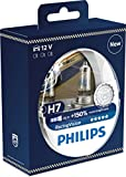 Philips RacingVision +150% H7 headlight bulb 12972RVS2, twin pack