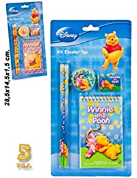 SET,2 CRAYONS GOMME CARNET TAILLE CRAYON WINNIE DISNEY