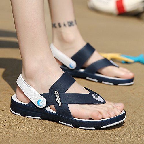 Les hommes de l'été, les chaussons anti-dérapants pour hommes tongs cool décontracté, RDP, sandales de plage, men's tide chaussons Deep blue
