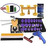 Weylon DIY Pops Damage Repair Dent & Ding Car Auto Panel Carrosserie Puller Kit d'outils PDR Paintless Dent Lifter Removal