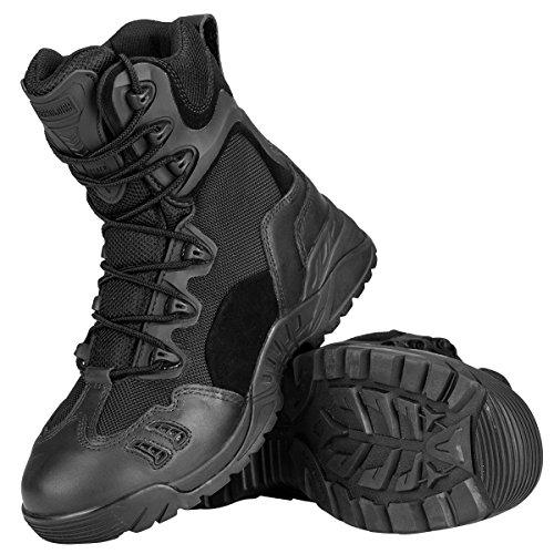 Free Soldier Outdoor uomo 15,2cm scarpe da trekking antigraffio Desert Tactical Duty stivali da lavoro Black