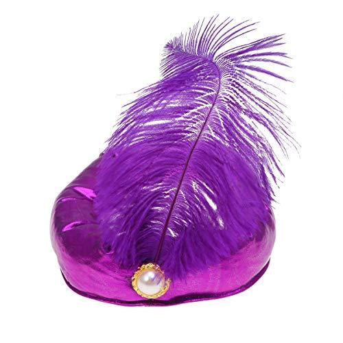 Amosfun Halloween indische Sultan Prinz Hut Maskerade Cosplay Partei Kostüm Hut arabische Feder Dekoration Kopfschmuck für Jungen Cosplay Partei verkleiden - Indische Prinz Kostüm