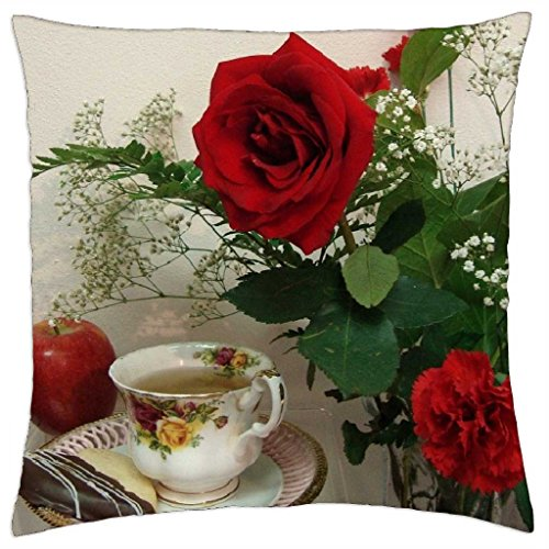 tea-time-with-red-rose-and-apple-throw-pillow-cover-case-18-x-18