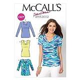 Mccall MC6963F5taglie 16–18–20–22–24Misses tops