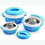 #3: BMS Lifestyle Designer Food Safe Serving Casserole & Gift set of 3 Pcs, Blue