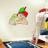 Peter Pan Tinkerbell Cartoon Home Decor Art Wall Vinyl Sticker 55 x 55 cm
