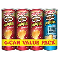 Pringles Original x3 Plus Salt and Vinegar x1, 165g(Pack of 4)