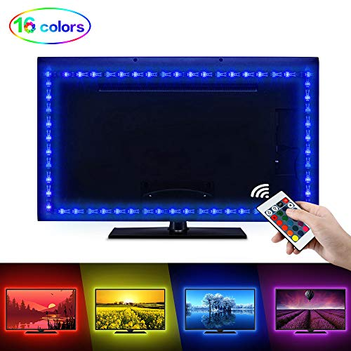 LED Tira TV, opamoo Tiras LED Iluminación 2M USB