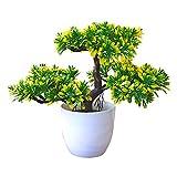 Gespout Plante en Pot Plante Artificielle Ganoderma Lucidum Arbre Bonsaï de...