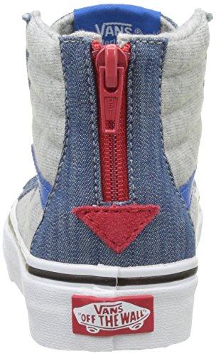 Vans Jungen Uy Sk8-Hi Zip Hohe Sneakers Blau (Jersey And Denim Imperial Blue/true White)