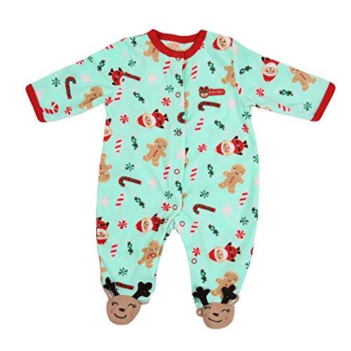 Baby Jungen Mädchen Rentiere Strampler Neugeborenen Bodysuit Weihnachts Winter Warme Outfits Overall Romper (Kostüme Halloween Niedlich 2017)