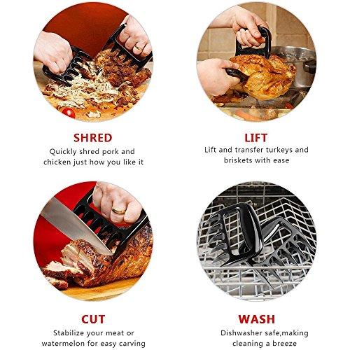 2 Stck Fleischgabeln Fleischkrallen Fr Pulled Pork Meat Claws Bbq Fleisch Shredder Fr Barbecue Brenklauen Grill Fr Zartes Fleisch Pulled Pork Gabeln Von Dubens