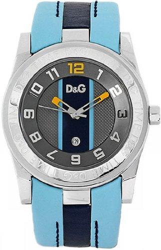 Dolce-Gabbana-ICIAL-GRAY-DIAL-LIGHT-BLUEBLUE-STRAP-DW0217-Reloj-de-caballero-de-cuarzo-correa-de-plstico-color-negro