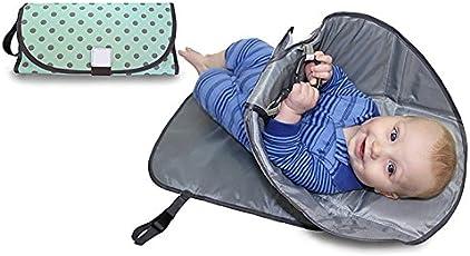 CadetBlue Cotton Portable/Foldable Baby Diaper Changing Mat (BP025)