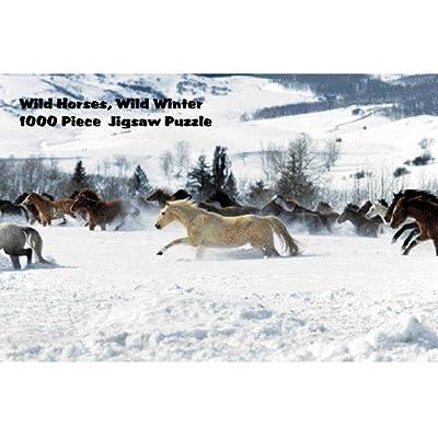 Intrepid International Wilde Pferde, im Winter Puzzle