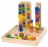 Hape International STECKSPIEL SORTIERSPIEL Spiel MOTORIK STECKTURM Holz Holzspielzeug