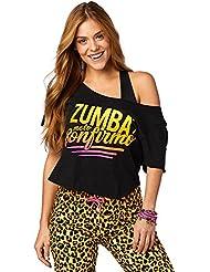 Zumba Fitness Zumba conf irmo Top mujer Tops, todo el año, mujer, color Bold Black, tamaño small
