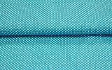 Qualitativ hochwertiger Jersey Stoff mit hellen Punkten auf