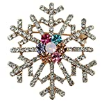 Brooch Pin,Ouneed® Crystal Christmas Tree Snowflake Brooch Pin for Women Men Costume Jewelry Gift Decoration