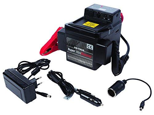 AQ-TRON Super Mini Booster PkW KfZ Auto 12 Volt Starthilfe Batteriebooster max. 1200 Ampere Modell 2017 G4+++ mit 2 x USB Anschluß und LED Spannungsanzeige - Booster-motor