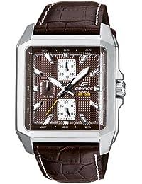 CASIO EF-333L-5AVEF Edifice - Reloj de caballero de cuarzo, correa de piel color marrón (con luz)