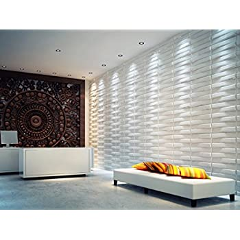 Bladet 3D Decorative Panel For Interior Walls, 100% Eco Friendly Made With  Bamboo, 12 Panels 50 X 50 Cm U003d 3 M2