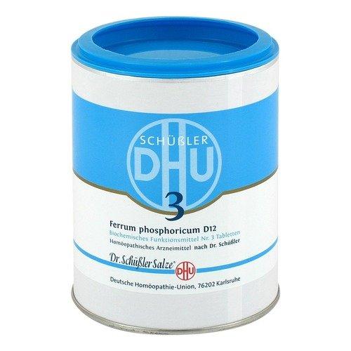 DHU Schüßler-Salz Nr. 3 Ferrum phosphoricum D12, 1000 St. Tabletten