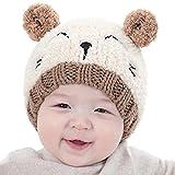 Enfants Bébé chapeaux Hiver, Reaso Bonnet LOVE broderie Beanie Pour Garçons Filles casquette (Bleu) (Beige)