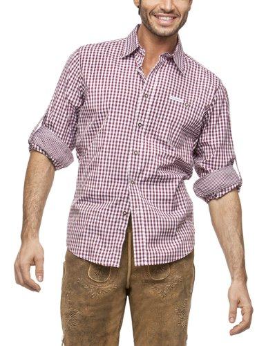 Stockerpoint Herren Regular Fit Trachtenhemd Campos2, Gr. Small, Rot (Outfits Traditionelle Deutsche)
