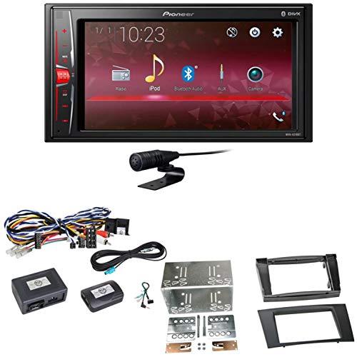 Pioneer MVH-A210BT USB Autoradio Touchscreen Bluetooth Moniceiver Freisprecheinrichtung WAV AUX AAC DivX Einbauset für Mercedes W211 CLS W219