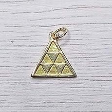 Colgante pintadera triángulo de oro.: Amazon.es: Handmade