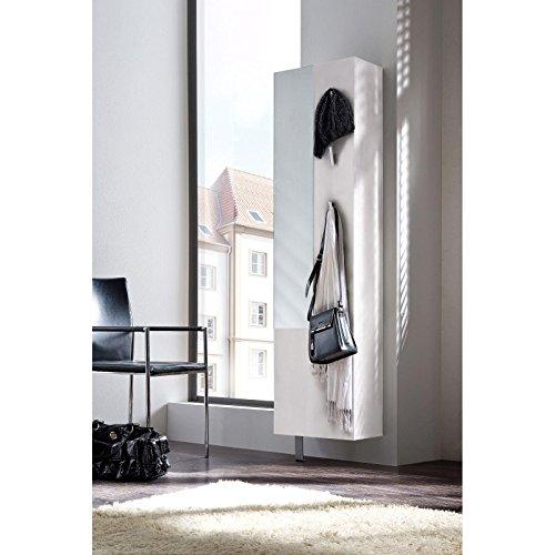 Schuhschrank Garderobenschrank, weiß matt, drehbar