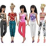 Creation® 5 Jeu de main Barbie Robes Vêtements Outfit pour poupée Barbie