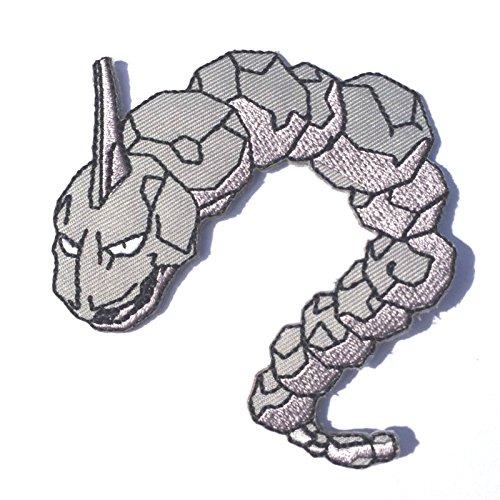 Onix Patch Pokemon Go Aufbügeln oder nähen auf Badge Rock Schlange Aufnäher Souvenir Retro DIY Kostüm Team Instinct Mystic Valor Onyx (Onix Pokemon Kostüm)