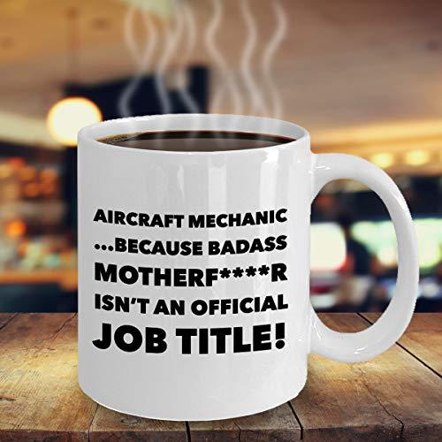 Aircraft MechanicMug Taza de café regalo para aviación de aviación, operador de ingenieros, taza de café divertida para navidad aeronáutica mecánico