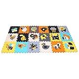 MQIAOHAM 18pcs Spielmatte Spielteppich Schaumstoff Puzzle Kinderteppich Baby weiche Tätigkeits Spiel Matten Boden Fliesen Pop heraus Tierpuzzles Mat P010011