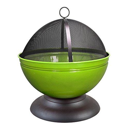 Buschbeck Feuerschale Globe schwarz hellgrün