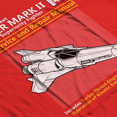 Battlestar Galactica Viper Service And Repair Manual Women's Sweatshirt red