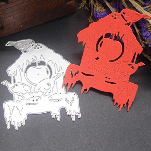 Stanzmaschine Stanzschablone, SHOBDW Weihnachten Halloween Prägeschablonen Stanzformen Scrapbooking Schablonen, für Sizzix big shot / Cuttlebug / und andere Embossing Machine anwenden (F)