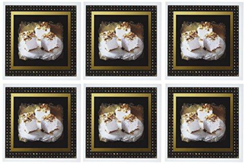 3dRose gc_14884_1 Grußkarten, Motiv Marshmallows, 15,2 x 15,2 cm, 6 Stück