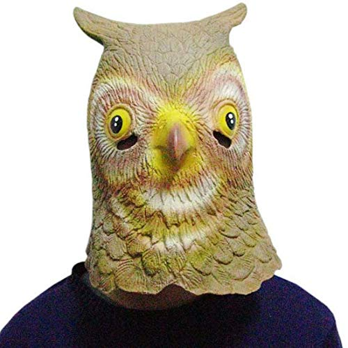 Maske Eule Kostüm - Yuyudou Halloween Maske für Mann/Frau,Lustige Tierkopf Maske, Eulen Neuheit Kostüm für Masquerade Party,Erwachsene Größe