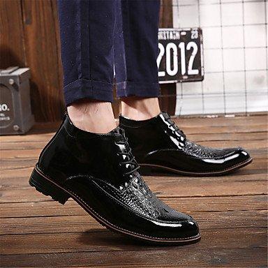 AIURBAG Da uomo Stivaletti Footing Comoda Scarpe formali Vernice Autunno Inverno Casual Piatto Oro Nero Borgogna Piatto black