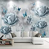 Papier Peint, Peinture Murale 3D, Décoration Murale De Fond D'Écran Hd Fleur Arbre...